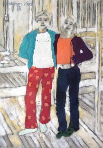 Printemps 2003 Juliette et Inès